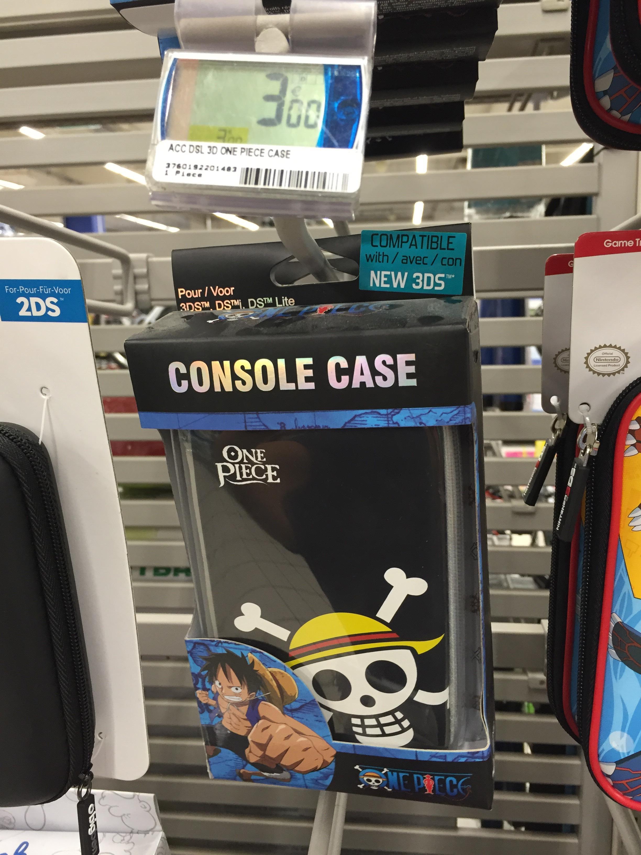 Sélection de Pochettes de rangement Nintendo 3DS - Ex : Pochette One Piece