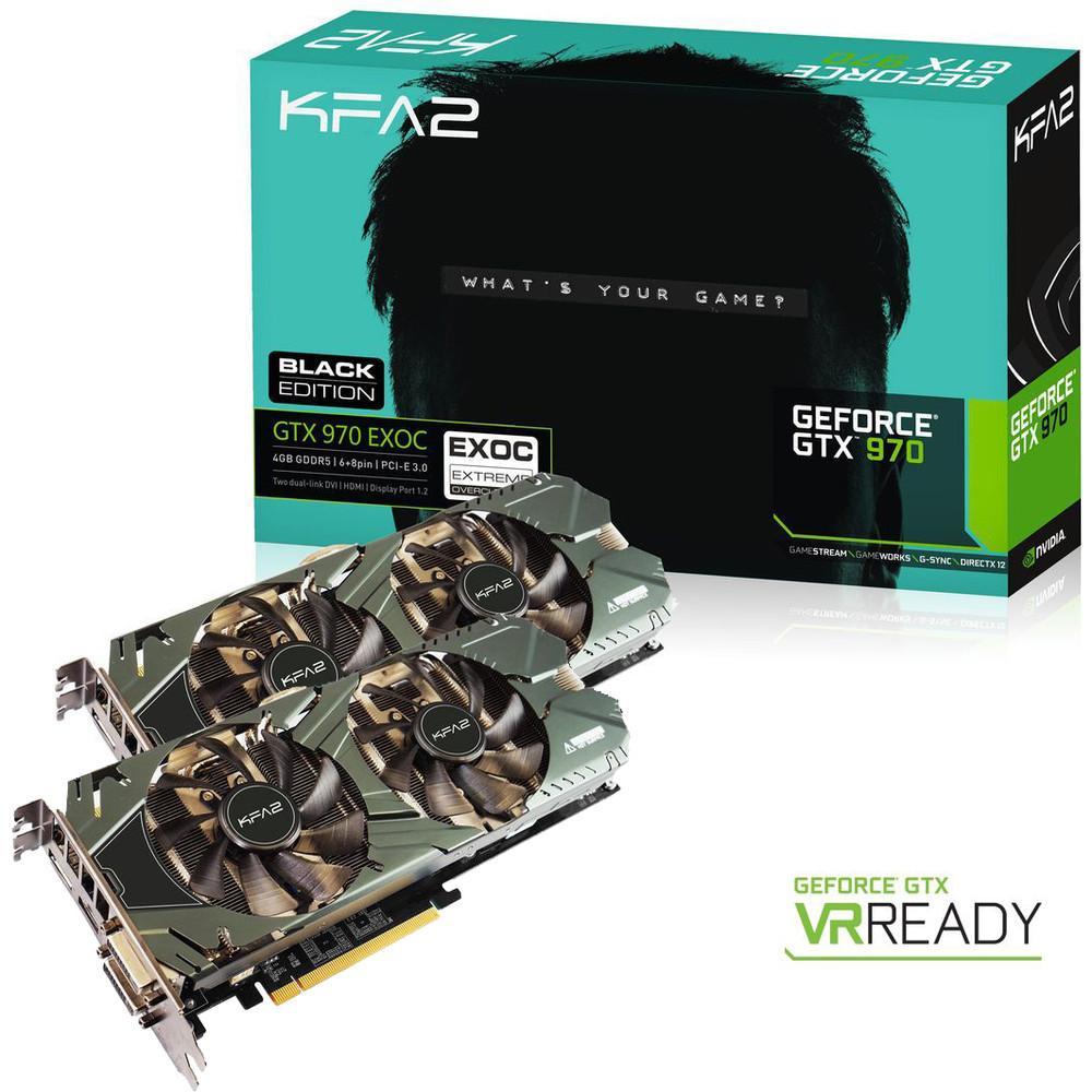 Lot de 2 KFA2 GeForce GTX 970 EXOC Black Edition 4 Go