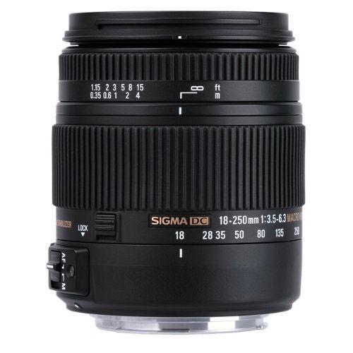 Objectif Sigma 18-250mm F3,5-6,3 DC Macro OS HSM pour monture Pentax