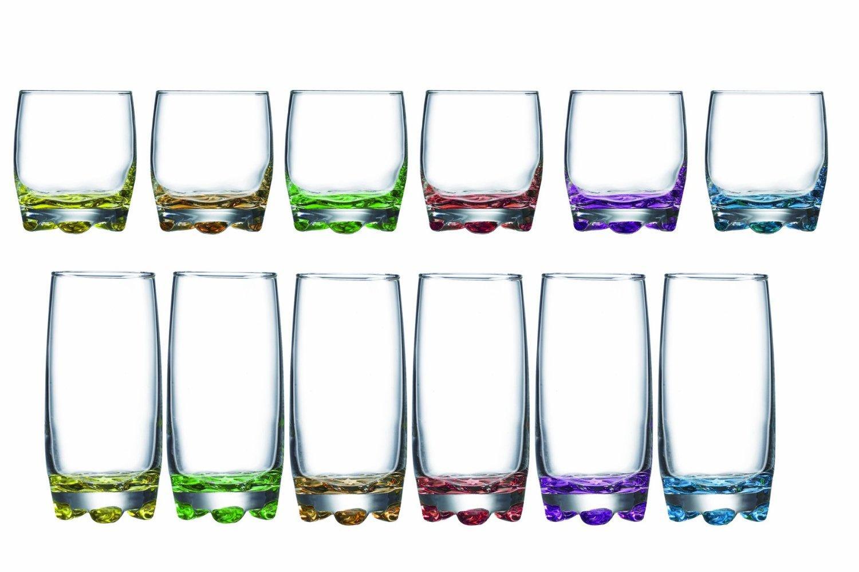 Lot de 12 verres Luminarc Adora (6 de Forme Basse 27 cl + 6 de Forme Haute 37 cl)