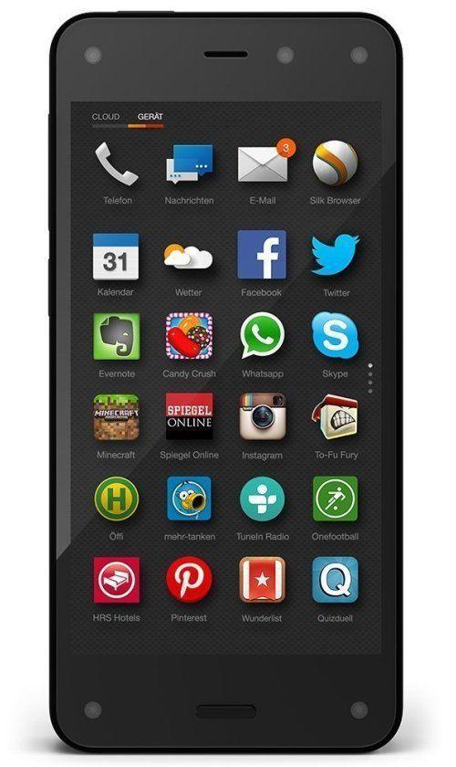 """Smartphone 4.7"""" Amazon Fire Phone 32 Go Noir - Reconditionné à neuf"""