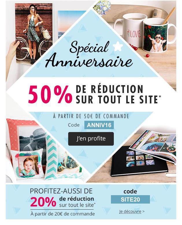 50% de réduction immédiate sur l'ensemble du site dès 50€ d'achats