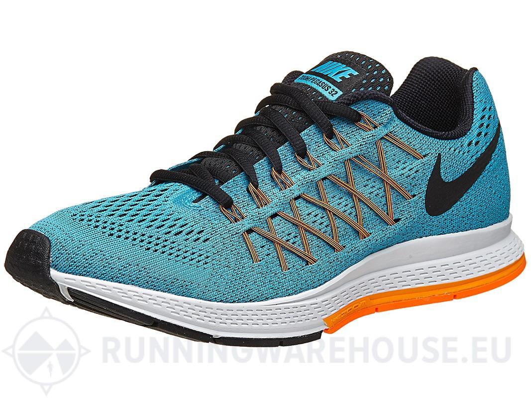 Chaussures Nike Zoom Pegasus 32 pour Homme - Bleu Lagon/Agrume