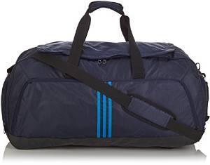 Sac de sport Adidas 3S (Taille L) - Noir et bleu