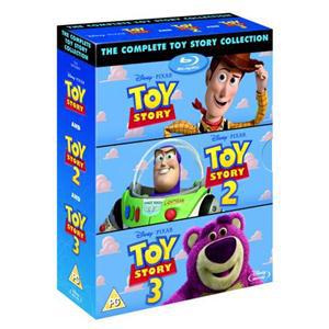 Coffret Toy Story 1, 2 & 3 (4 Blu-rays, 3ème film seulement en anglais)