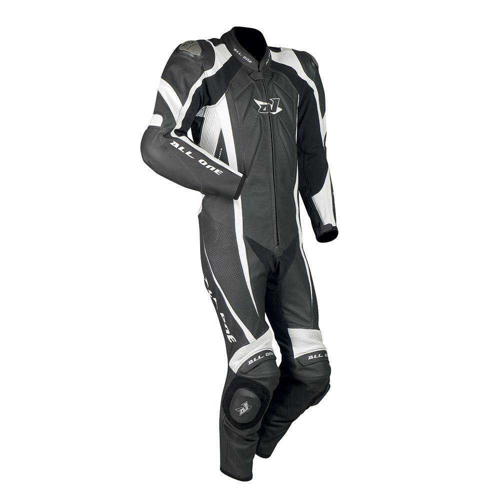 Combinaison moto All-One Volt LT (cuir, blanc ou noir)