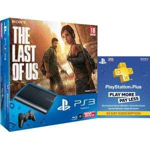 Sony PS3 Ultra Slim 500 Go + The Last of Us + Abonnement 90 jrs PlayStation Plus