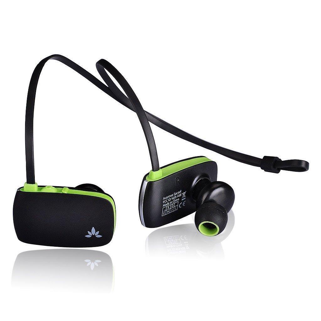 Écouteurs intra-auriculaires Bluetooth Avantree Sacool (noir / vert)