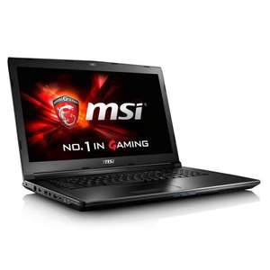 "PC Portable 17.3"" MSI GL72 6QF-450XFR - Full HD, i5-6300HQ, RAM 8 Go, HDD 1 To, GTX 960M 2 Go, Sans OS"