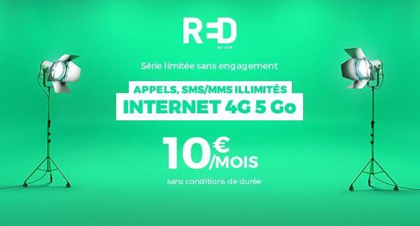 [Nouveaux clients] SFR Red Forfait mobile Tout illimité SMS/MMS + 5 Go de Data à vie