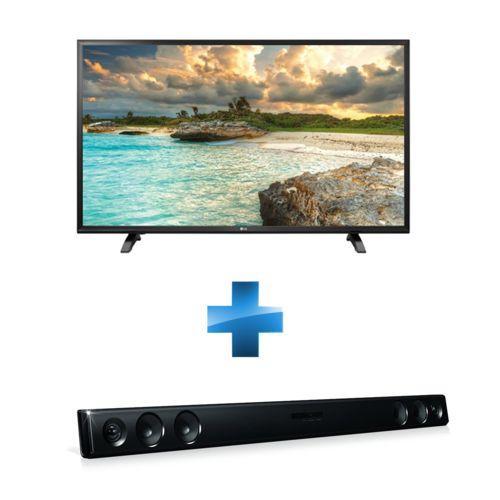 """TV 43"""" LG 43LH500T - Full HD ( 2 HDMI / 2 USB) + Barre de son  LG LAS260B Bluetooth - 100W"""