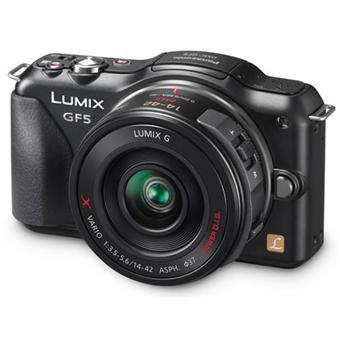 Panasonic Lumix DMC-GF5X Noir + Obj. Lumix G Vario OIS PowerZoom 14 - 42 mm f/ 3.5 - 5.6 ASPH
