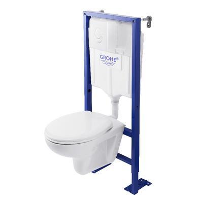 WC suspendu Grohe (bâti + plaque + cuvette)
