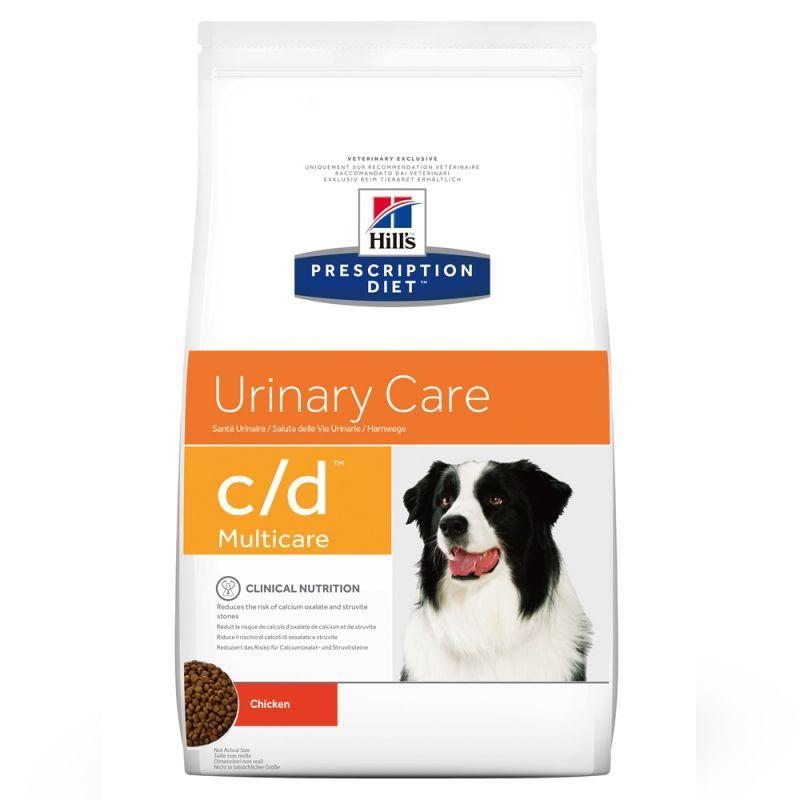 2 Paquets de croquettes pour chien Hill's Prescription Diet Canine c/d Urinary Care - 2x12Kg
