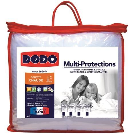 Sélection de promo couettes, oreillers Dodo - Ex : Couette chaude Multi-protections 400 g/m² toutes tailles
