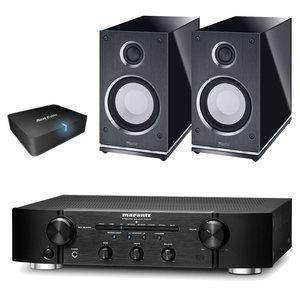 Pack ampli intégré Marantz PM6005 (noir) + 2 enceintes Magnat Quantum Edelstein (noir) + récepteur Bluetooth Real Cable iPlug-BTR