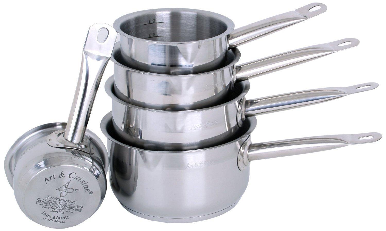 Set de 5 casseroles inox Art & cuisine - tous feux dont induction