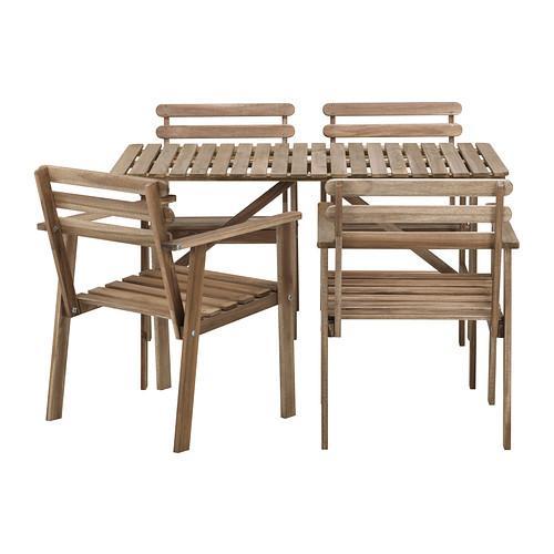Sélection d'articles en promotion - Ex : ensemble de jardin table + 4 chaises Askholmen