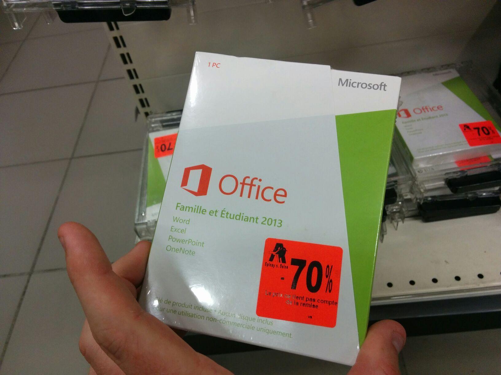 Application Microsoft Office Famille et étudiants 2013, 1PC