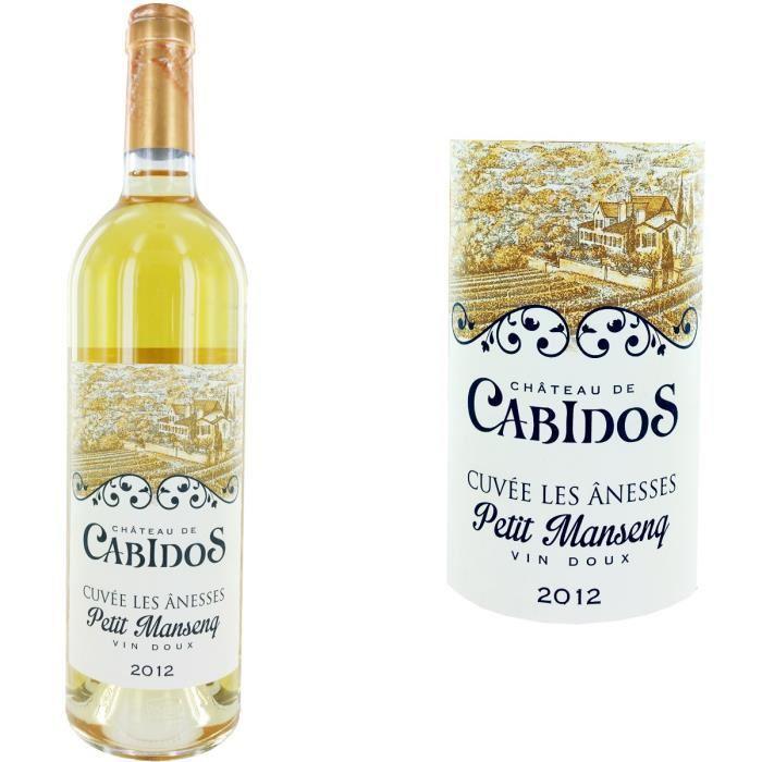 Pack de 6 Bouteilles de Vin blanc doux petit Manseng Cabidos -Carte CD et Clients A Volonté