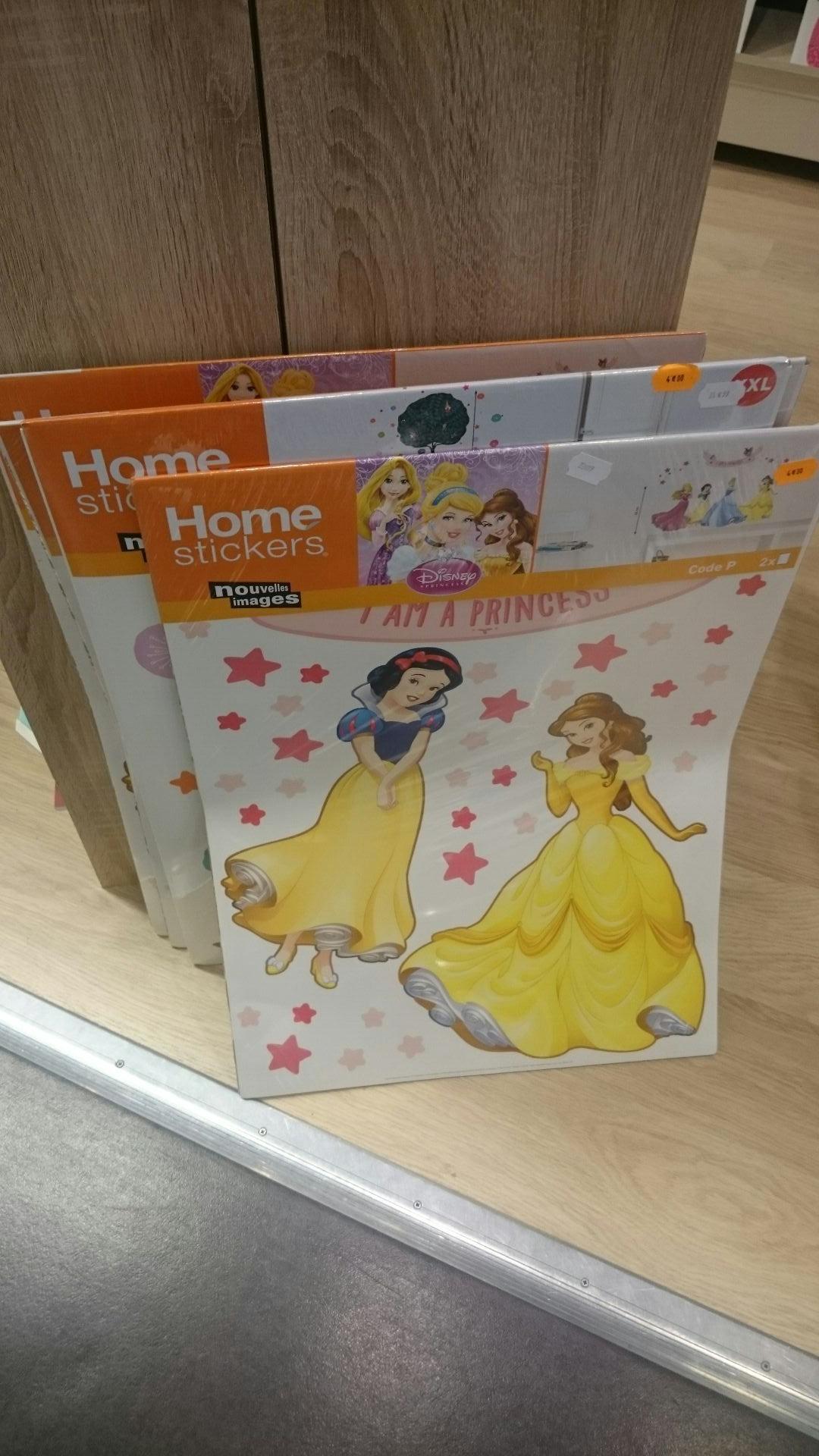 Stickers chambre fille princesses Disney