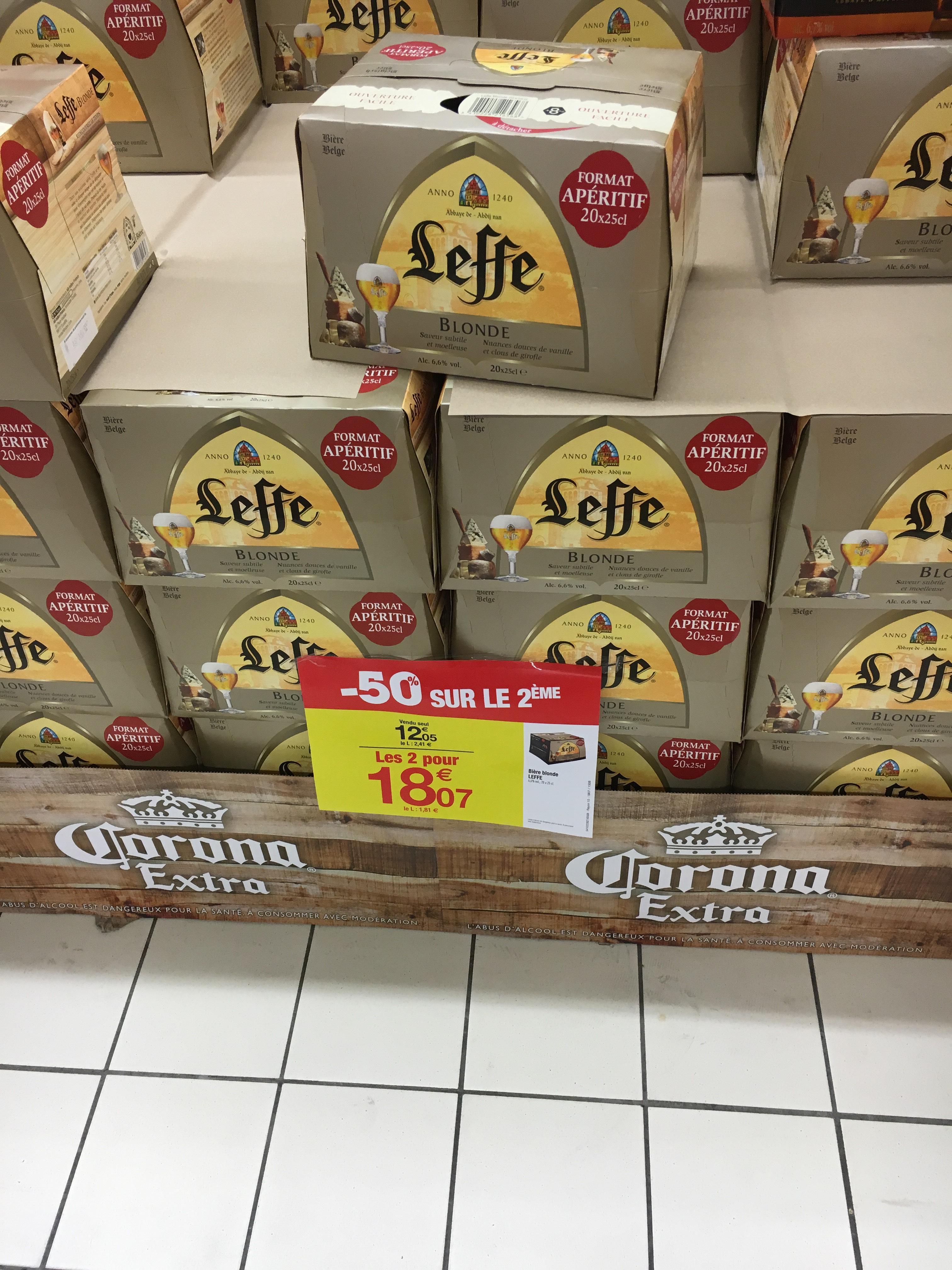 2 packs de bières Leffe (20 x 25cl)