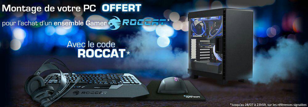 Montage PC offert pour l'achat d'un ensemble gamer Roccat