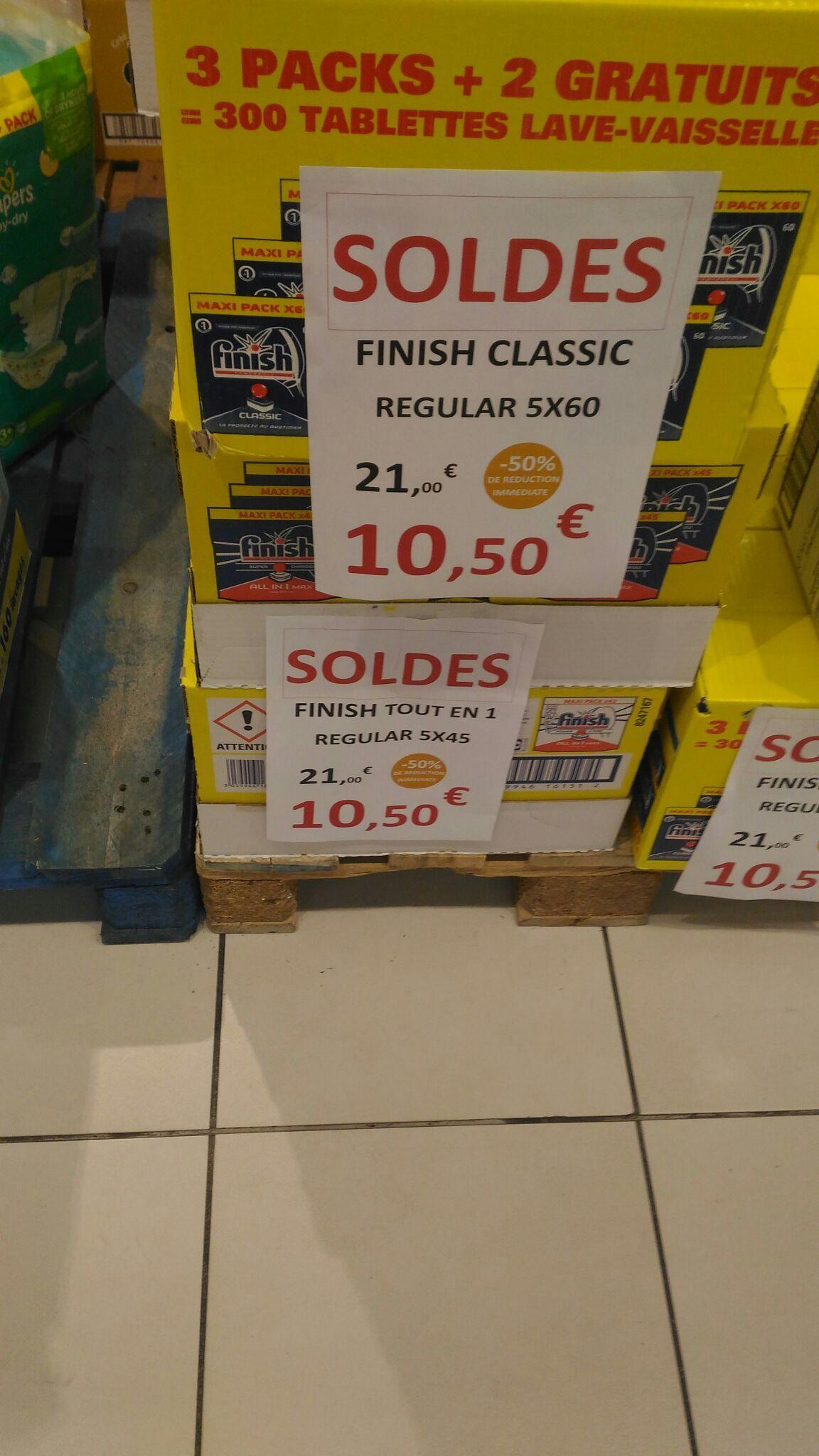 Lot de 5 pack de 60 tablettes Finish Classic Regular