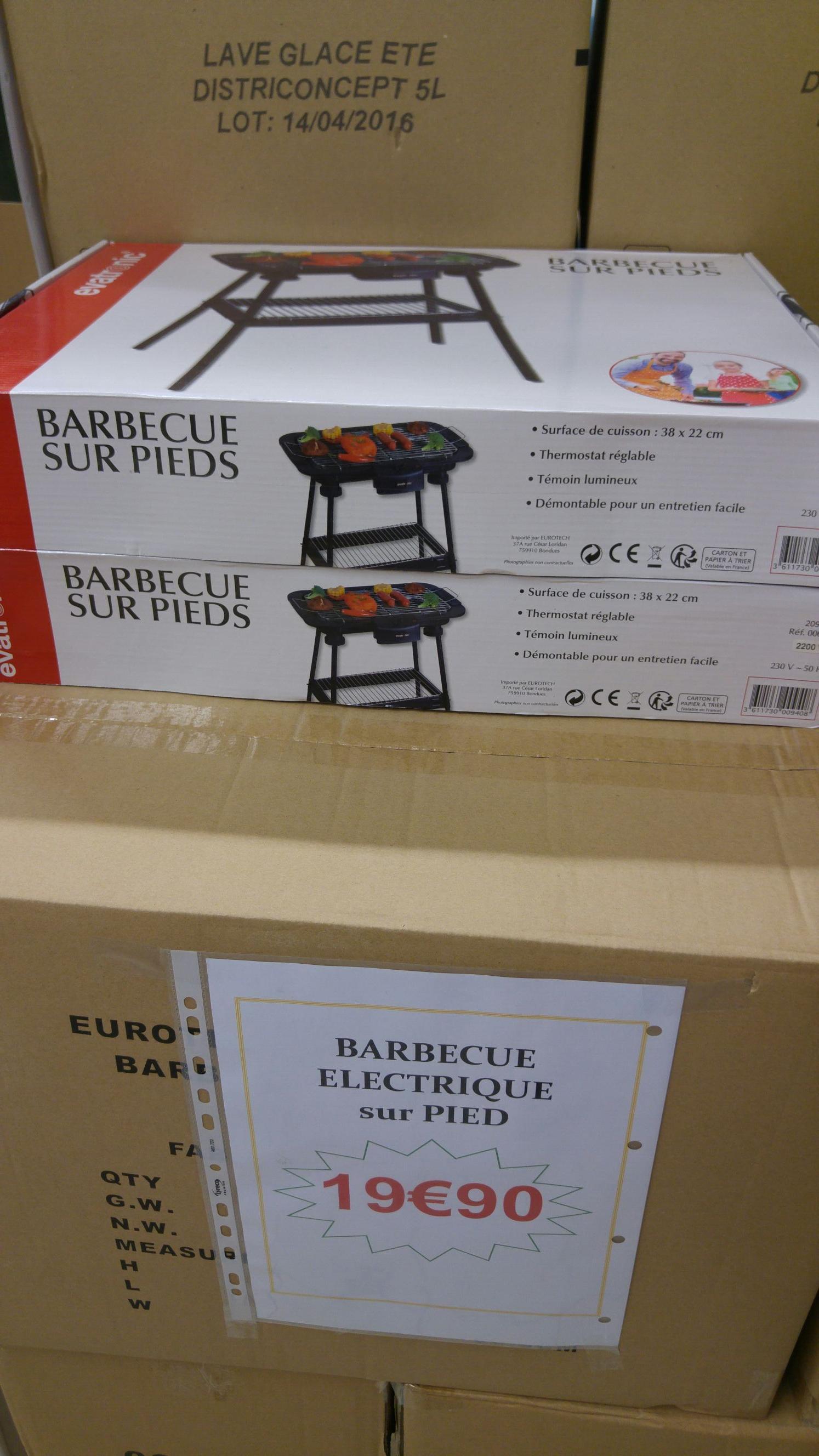 Barbecue électrique sur pieds