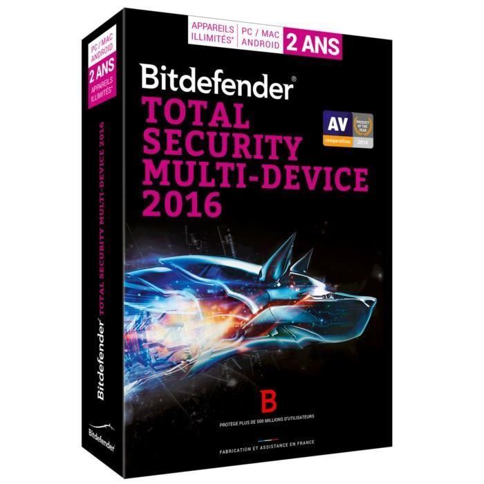 Bitdefender Total Security Multi-Device 2016 - 2 ans