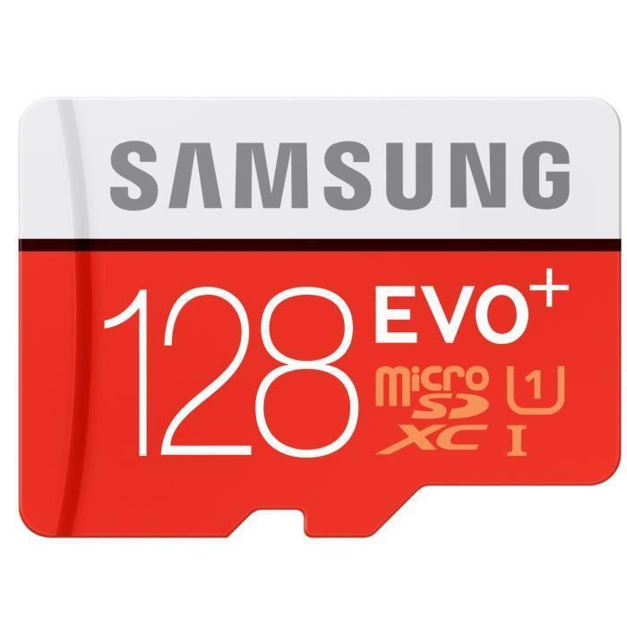 Carte microSDXC Samsung Evo+ Classe 10 - 128Go