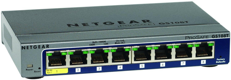 Switch Netgear Prosafe GS108T-200GES Gigabit - 8 Ports Smart Manageable