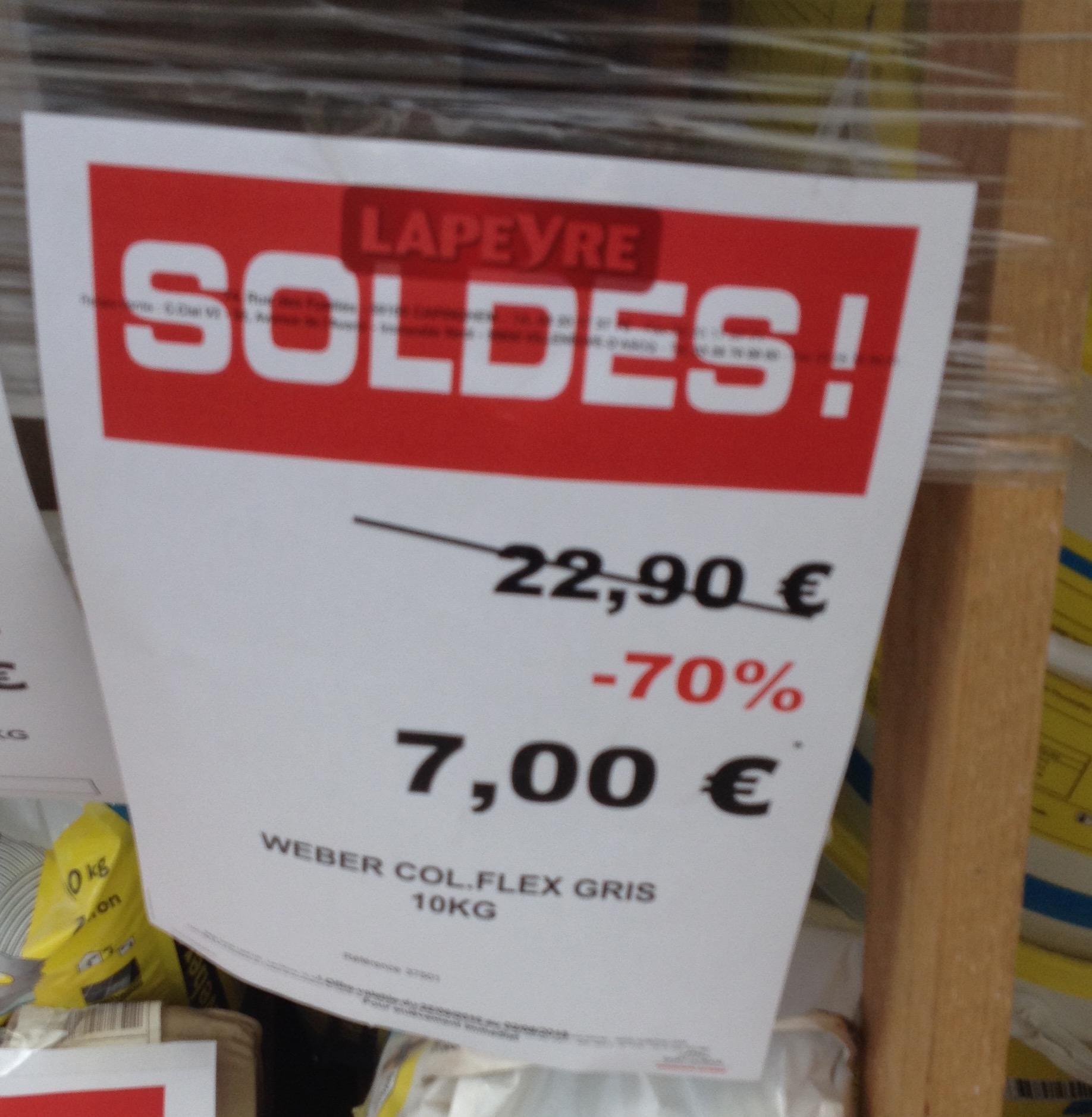 Colle joint Weber - HR Gris à 33€ et Flex Gris
