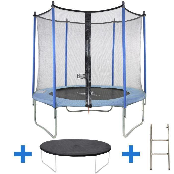 [Cdiscount à volonté] Sélection de trampolines en promotion  - Ex: Trampoline Kangui 305cm + accessoires (échelle, couverture propreté et filet de protection)