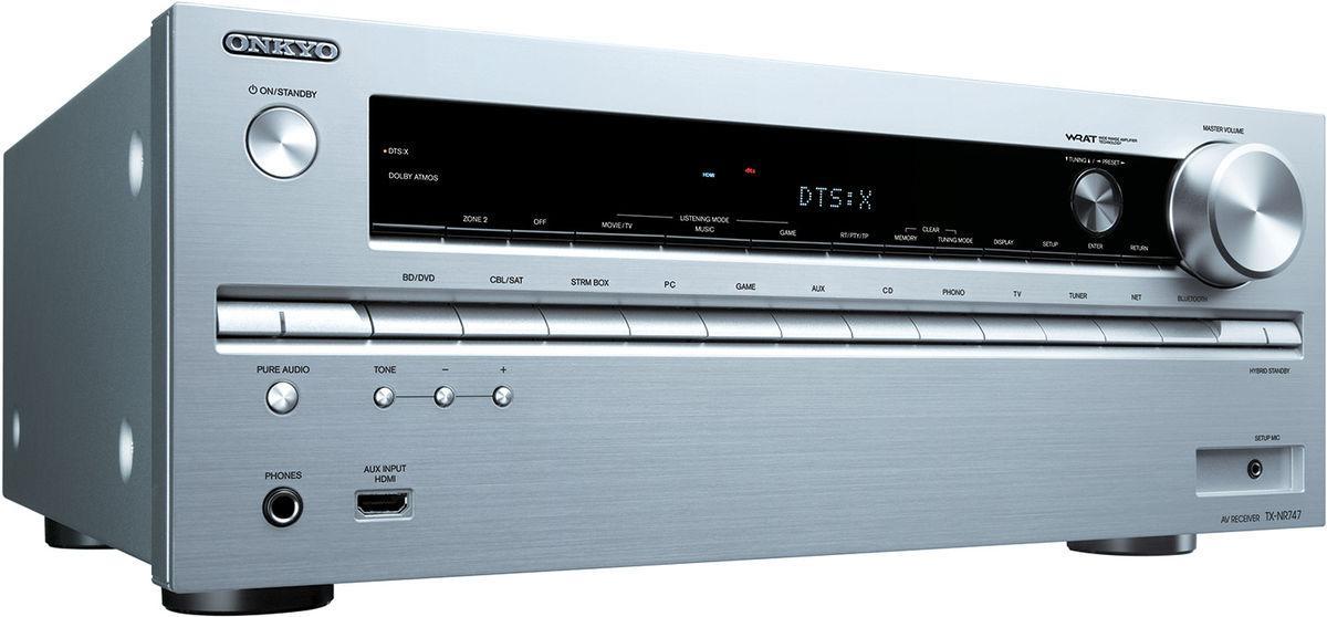 Ampli réseau HC 7.2 Onkyo TX-NR747 THX Select2 Plus - 2 sorties HDMI, 4K/60hz/3D, Dolby Atmos (5.2.2), DTS-X, AccuEQ, HCPS, DAC 32 bits/384kHz