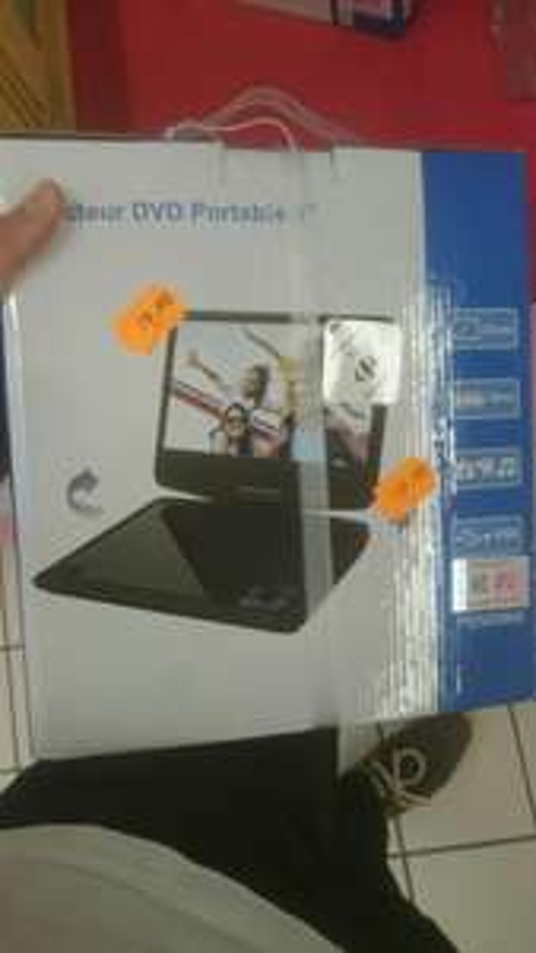 Lecteur DVD portable Netgreen PDVD969