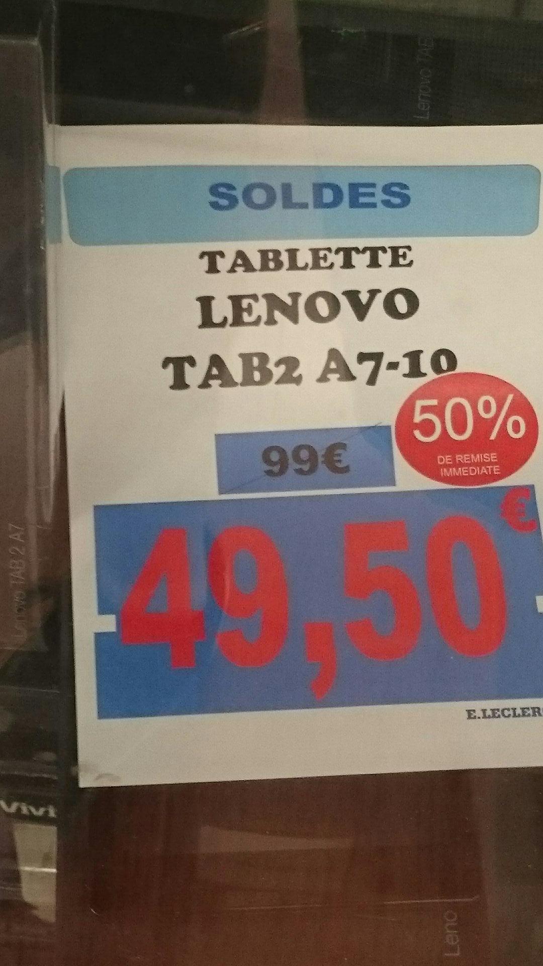 "Sélection de Tablettes Lenovo en solde - Ex: 7"" IdeaTab 2 A7-10 - RAM 1Go, 8Go (Via ODR 20€)"
