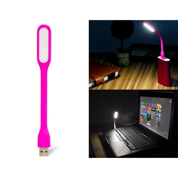 Lampe USB LED pour PowerBank et PC - Rouge