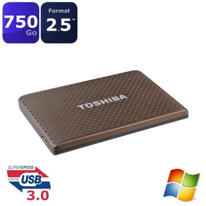 "Disque Dur Externe 2,5"" Toshiba 750 Go USB 3"