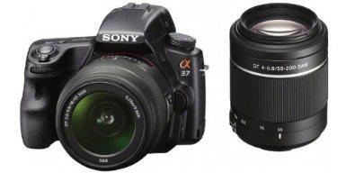 Sony A37 Reflex numérique 16.1 Mpix + Objectif 18-55 mm + 55-200 mm