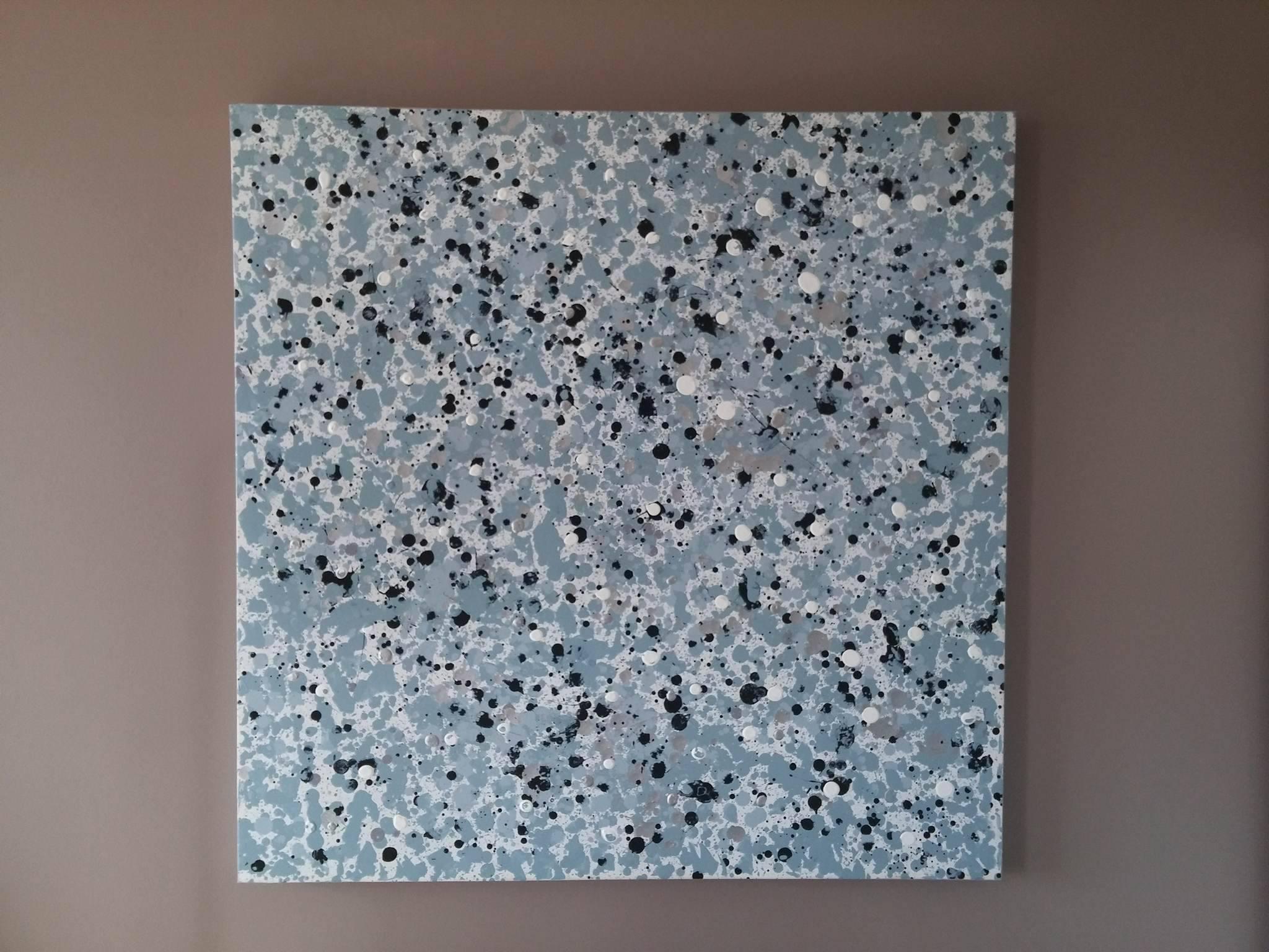 Promotion sur une sélection de tableaux - Ex:  Toile peinte à la main Neptune 90 x 90 cm