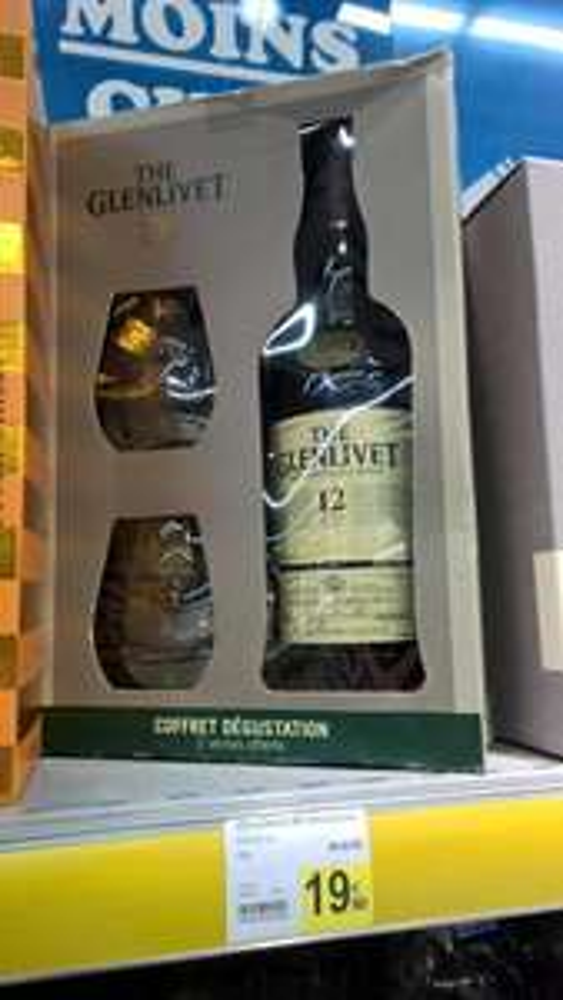 Coffret Whisky Glenlivet 12 + 2 verres