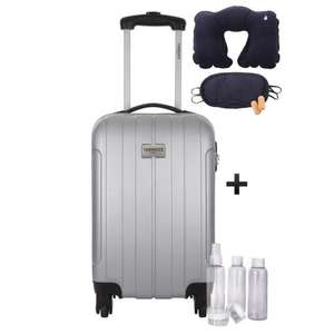 Valise Cabine Torrente Atlas 2 Low Cost Rigide ABS - 4 Roues, 45 cm + Kit flacons 100ml + Kit confort