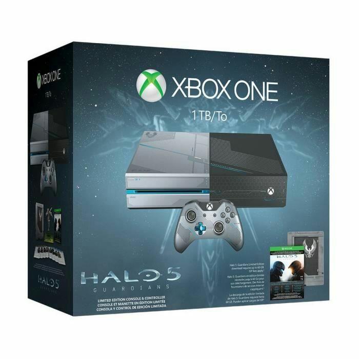 Pack Xbox One (1 To) - Édition Halo 5: Guardians + 2 manettes + abonnement de 12 mois au Xbox Live