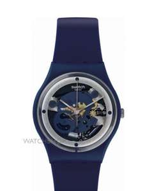 Montre Unisexe Swatch Squelette - Bleu