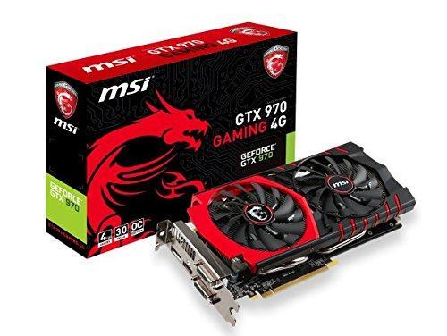 Carte graphique MSI GTX 970 Gaming - 4 Go, 1114 MHz, 4096 Mo, PCI-Express