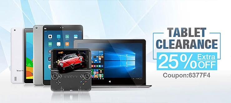 25% de réduction sur une sélection de tablettes - Ex : Xiaomi MiPad 2 64Go à 194€, GPD XD à 97€
