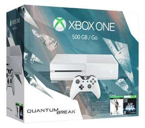 Pack Microsoft Xbox One (500 Go, blanc) - Quantum Break + Alan Wake