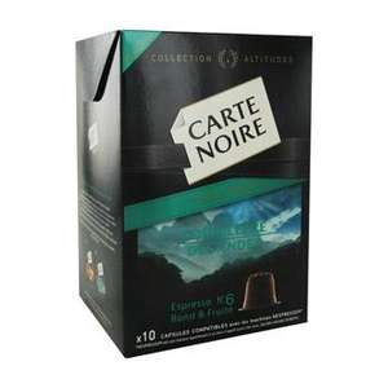 Lot de 2 boîtes de capsules Nespresso Carte Noire gratuites (gain de 0.61€, via BRD + Coupon Network))
