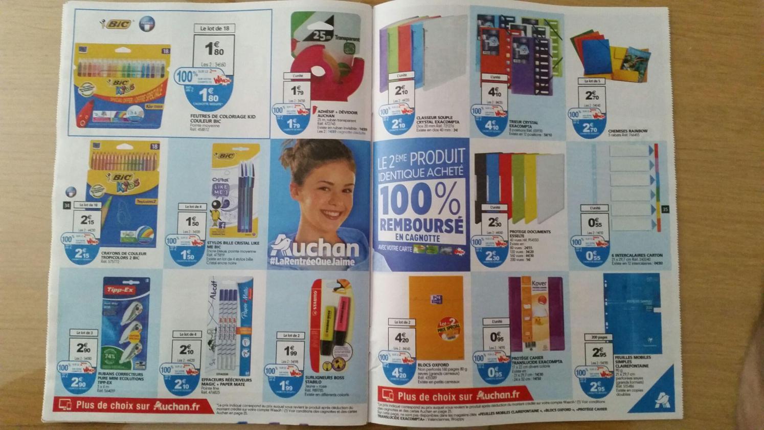 Sélection de produits 1 acheté = 1 remboursé sur la carte Waaoh - Ex : lot 2 paquets de 18 feutres de coloriage Bic Kid (via 1.8€ sur la carte)